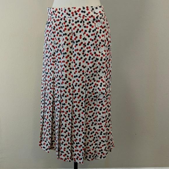 df84bb8ac Yves Saint Laurent Skirts   Silk Pleated Skirt Ysl Vintage 80s ...
